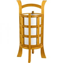 Japanese Design Lamp (Honey Finish) :: Japanese Lamps