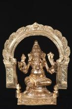 Ganesh in Gold :: Hindu Statues