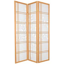 Bamboo Sunrise Japanese Shoji Screen (Natural Finish) :: Japanese Shoji Screens