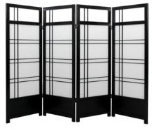 "48"" Yuku Aki Low Screen (Black Finish) :: 48"" Short Shoji Screens"
