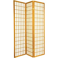 6 ft. Tall Japanese Window Screen (Honey Finish) :: Japanese Shoji Screens