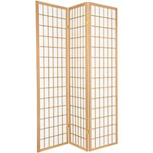 6 ft. Tall Japanese Window Screen (Natural Finish) :: Japanese Shoji Screens