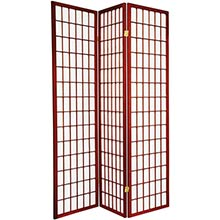 6 ft. Tall Japanese Window Screen (Rosewood Finish) :: Japanese Shoji Screens
