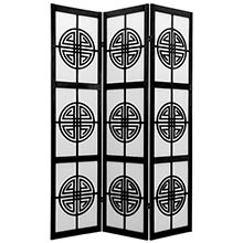 Chinese Taoist Screen (Black Finish) :: Japanese Shoji Screens
