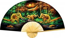 Velvet Elephants :: Velvet Painting Wall Fans