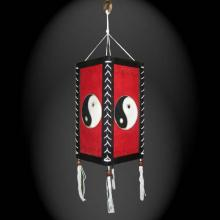 Red Yin Yang Lantern ::