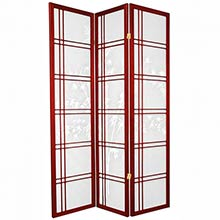 Bamboo Sunrise Japanese Shoji Screen (Rosewood) :: Bamboo Decor