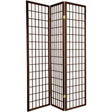 6 ft. Tall Japanese Window Screen (Walnut Finish) :: Japanese Shoji Screens