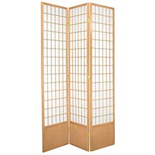 "84"" Window Screen (Natural Finish) :: 84"" Tall Shoji Screens"