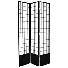 "84"" Window Screen (Black Finish) :: 84"" Tall Shoji Screens"