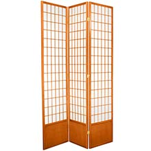 "84"" Window Screen (Honey Finish) :: 84"" Tall Shoji Screens"
