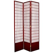 "84"" Window Screen (Rosewood Finish) :: 84"" Tall Shoji Screens"