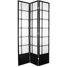 "84"" Yuku Aki Screen (Black Finish) :: 84"" Tall Shoji Screens"