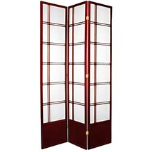 "84"" Yuku Aki Screen (Rosewood Finish) :: 84"" Tall Shoji Screens"
