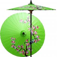 Song Birds (Meadow Green) :: Outdoor Patio Umbrellas