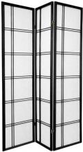 Double Side Japanese Shoji Screen (Black Finish) :: Double Sided Shoji Screens