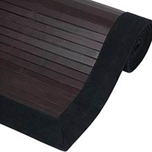 Ebony Bamboo Rug :: Bamboo Decor