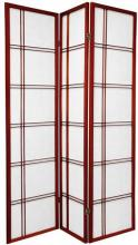 Double Side Japanese Shoji Screen (Rosewood Finish) :: Double Sided Shoji Screens