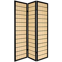 Double Side Koji Japanese Shoji Screen (Black Finish) :: Double Sided Shoji Screens
