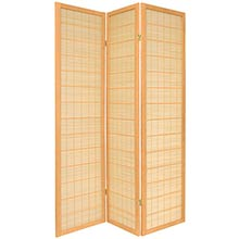 Double Side Koji Japanese Shoji Screen (Natural Finish) :: Double Sided Shoji Screens