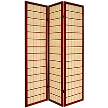 Double Side Koji Japanese Shoji Screen (Rosewood Finish) :: Double Sided Shoji Screens
