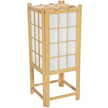"18"" Window Pane Japanese Lamp (Natural Finish) :: Japanese Lamps"