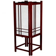 Migoto Japanese Lamp (Rosewood Finish) :: Japanese Lamps