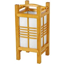 Kaigan Japanese Lamp (Honey Finish) :: Japanese Lamps