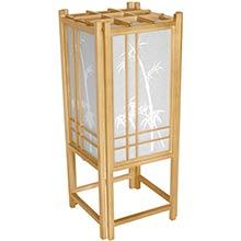 Bamboo Chinese Lamp (Natural Finish) :: Chinese Lamps