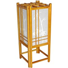 Bamboo Chinese Lamp (Honey Finish) :: Chinese Lamps