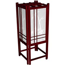 Bamboo Chinese Lamp (Rosewood Finish) :: Chinese Lamps
