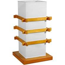 Pagoda Chinese Lamp (Honey Finish) :: Chinese Lamps