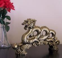 Gold Coiled Dragon