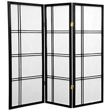 "48"" Zen Shoji Screen (Black Finish) :: 48"" Short Shoji Screens"
