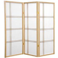 "48"" Zen Shoji Screen (Natural Finish) :: 48"" Short Shoji Screens"