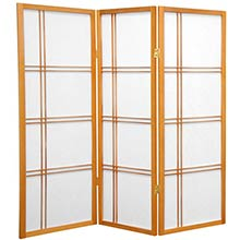 "48"" Zen Shoji Screen (Honey Finish) :: 48"" Short Shoji Screens"