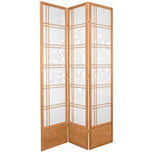 "84"" Bamboo Sunrise Shoji Screen (Natural Finish) :: 84"" Tall Shoji Screens"