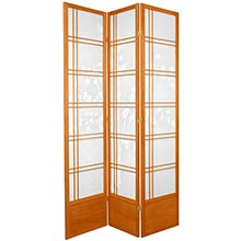 "84"" Bamboo Sunrise Shoji Screen (Honey Finish) :: 84"" Tall Shoji Screens"