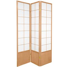 Japanese Zen Shoji Screen (Natural) :: Bamboo Decor