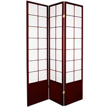 Japanese Zen Shoji Screen (Rosewood) :: Bamboo Decor