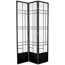 "84"" Hinaga Shoji Screen (Black Finish) :: 84"" Tall Shoji Screens"