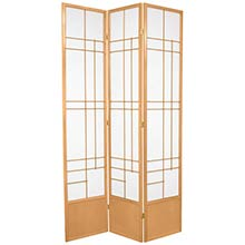 "84"" Hinaga Shoji Screen (Natural Finish) :: 84"" Tall Shoji Screens"