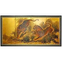 Chinese Tigers :: Chinese Silk Paintings
