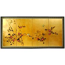 Chinese Cherry Blossoms :: Chinese Silk Paintings