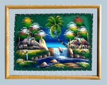 Framed Green Fields of Home :: Oriental Paintings