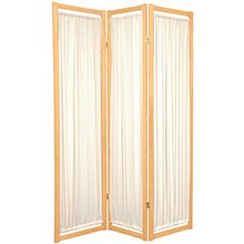 Fabric Shoji Screen (Natural Finish) :: Japanese Shoji Screens