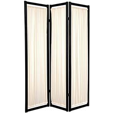 Fabric Shoji Screen (Black Finish) :: Japanese Shoji Screens