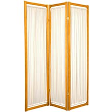 Fabric Shoji Screen (Honey Finish) :: Japanese Shoji Screens