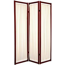 Fabric Shoji Screen (Rosewood Finish) :: Japanese Shoji Screens