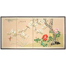 Springtime in Japan Silk Painting :: Japanese Silk Paintings